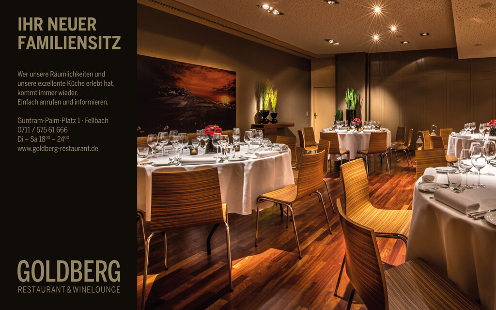 Goldberg Restaurant Winelounge In Fellbach Stuttgart